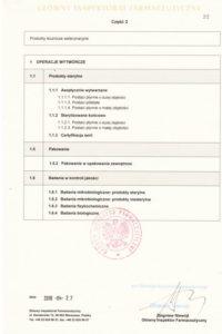 Certyfikat GMP - II produkty sterylne