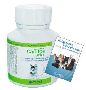 Canifos junior – PROMOCJA STYCZEŃ – KWIECIEŃ 2020 R.  2 + Książeczka zdrowia psa