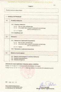 Certyfikat GMP str.2 - produkty niesterylne - wersja PL