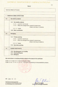 Certyfikat GMP str.2 - produkty niesteryne - wersja EN